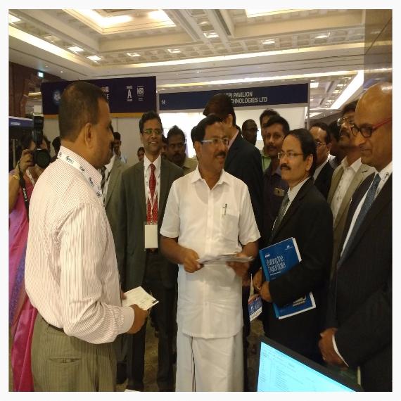 Interacting with Hon . Minister Ma Foi K.Pandiyarajan